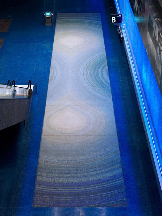 Vancouver Convention Centre Glass Mosaic Tile Floor Design