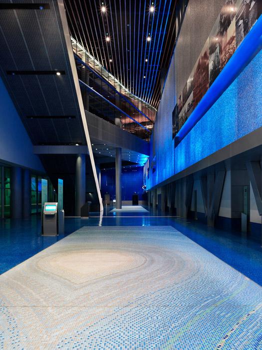 Vancouver Convention Centre Glass Mosaic Tile Floor Design (Derek Root)
